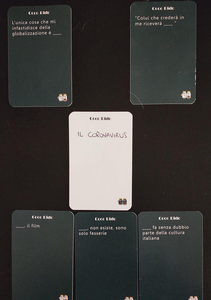 Immagine che illustra un esempio di combinazione di carte del gioco Coco Rido